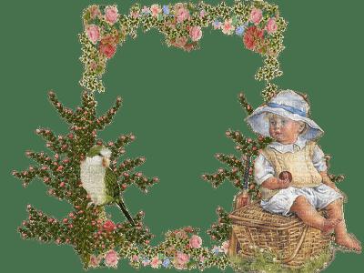 Des fleurs et enfant