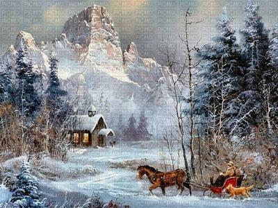 fond hiver décoration Noël paysage_background Winter decoration Christmas landscape