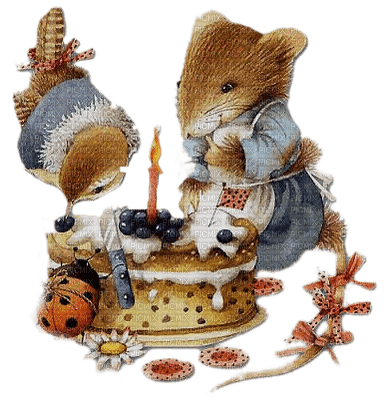vintage birthday cake mouse paintinglounge