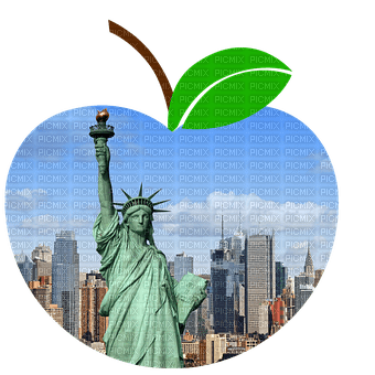 Apple Green Blue New York - Bogusia