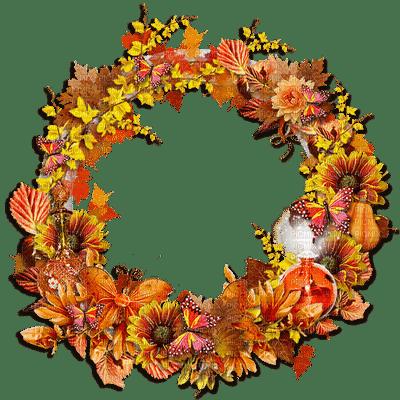 autumn circle  deco frame automne cadre  cercle
