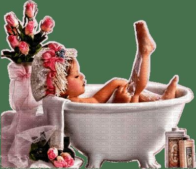 child girl bathtub enfant fillette baine