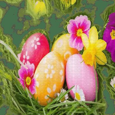 spring printemps frühling primavera весна wiosna  fond background   easter ostern Pâques paques garden jardin   paysage  landscape  egg eggs eier œufs grass herbe flower fleur tube