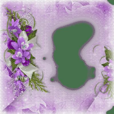 spring printemps flower fleur blossom fleurs blumen  tube frame cadre rahmen overlay fond background purple