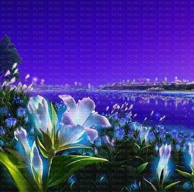 fond paysage fleur