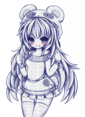 Manga Fille Dessin Sourie Noir Blanc Picmix