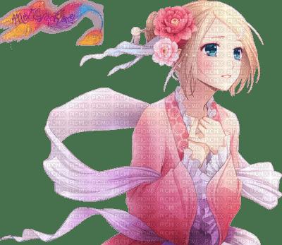 Belle fille en kimono triste larme femme manga rose picmix - Image manga fille triste ...