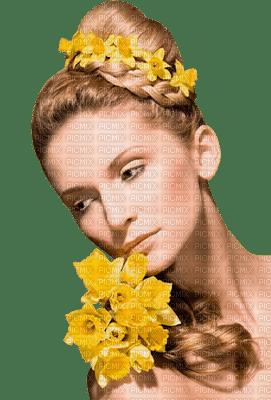 Kaz_Creations Woman Femme Yellow Flowers