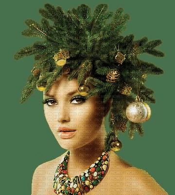 Femme coiffure de sapin