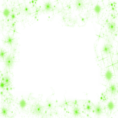 green stars dust frame