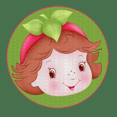 Kaz_Creations Cute Girl Circle Strawberry Shortcake
