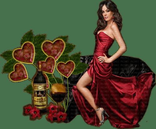 femme,composition,vin,red, coeur,Orabel
