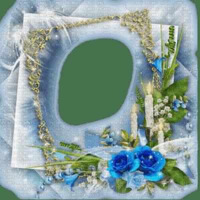 flower fleur blossom blumen spring printemps   fond background image overlay frame cadre rahmen tube blue