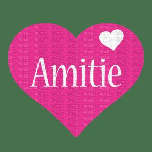 Amitié.Coeur.text.texte.fuchsia.Victoriabea