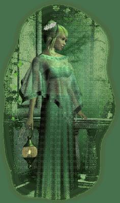 fille fantastique, forêt, conte de fées, lanterne, fée Pelageya