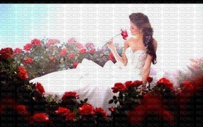 la jeune femme aux roses
