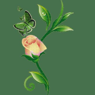 fleur-papillon-flower butterfly