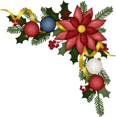christmas corner deco coin  noel