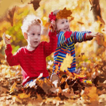 child in autumn leaves enfant automne feuilles