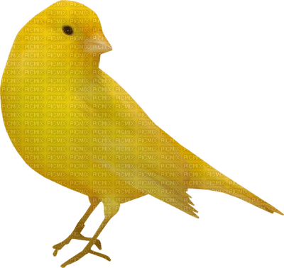 Kaz_Creations Yellow Deco Scrap Bird Birds