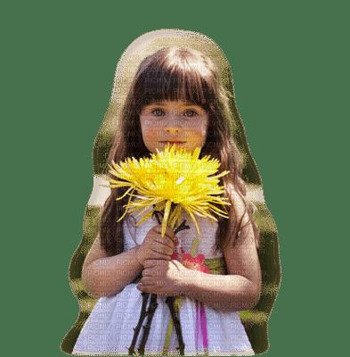 enfant fillette fleur  child girl flower