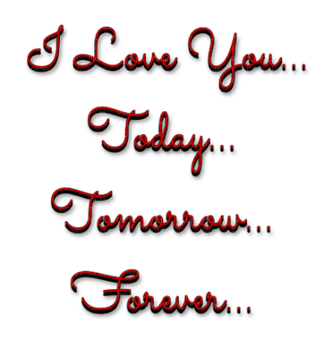 I love you... today... tomorrow... forever...Text.Victoriabea