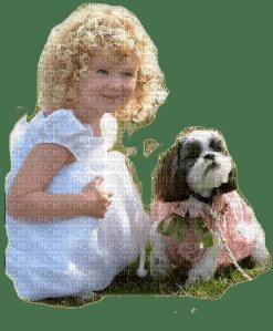 child dog enfant chien