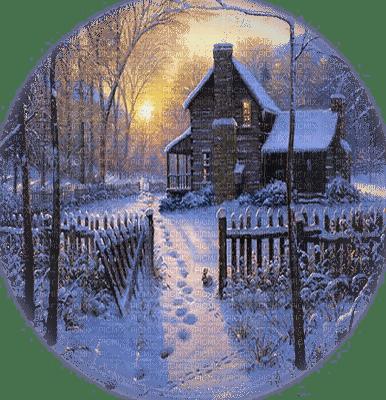 hiver maison paysage winter house