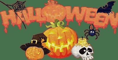 text halloween letter tube deco pumpkin  Postcard