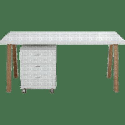 Bureau basique blanc