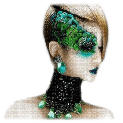 femme paon peacock woman