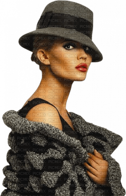 Kaz_Creations Woman Femme Black Grey Hat