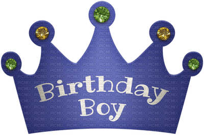 Kaz Creations Birthday Party Hat Text Boy