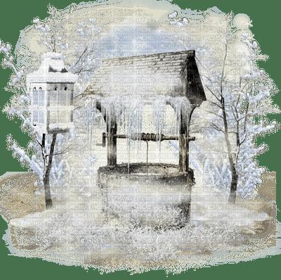 chantalmi  hiver winter neige snow noël déco puit givre