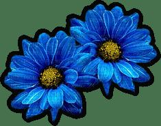 fleurs bleu flowers blue