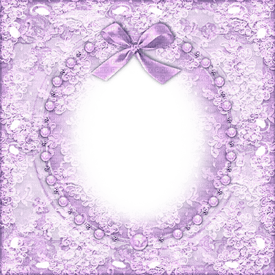purple lace frame