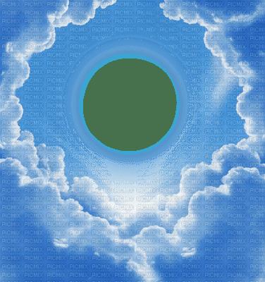 nuages ciel cadre frame rahmen tube sky clouds fond blue