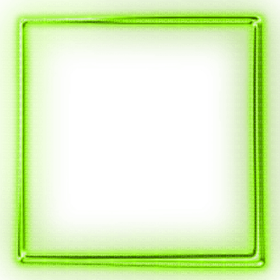 green glowing neon frame