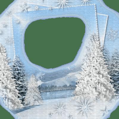 winter hiver garden jardin neige  snow   fond background  landscape paysage frame cadre rahmen tree tube fir
