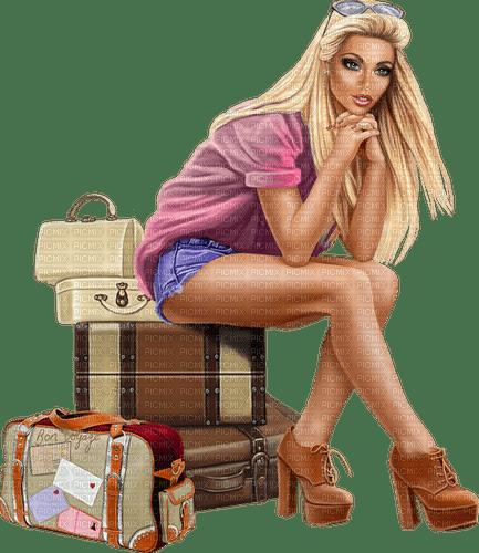 femme,blond,fashion,élégant,voyage,, Pelageya