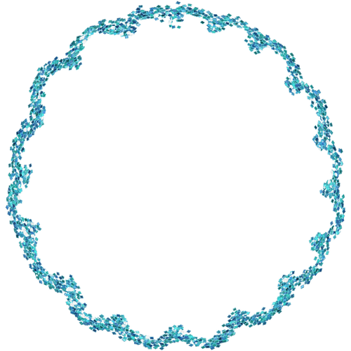 Frame.Cadre.Turquoise.Circle.Round.Victoriabea