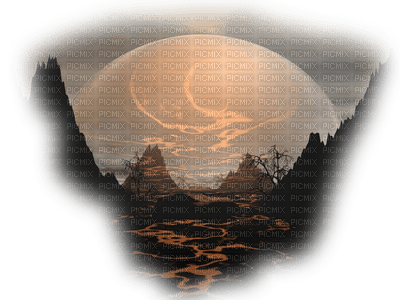 paysage, mer,lune,gif,fond,encre, tube,Irena, paillettes, animation,gif Pelageya