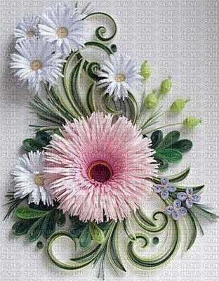 image encre effet texture fleurs printemps edited by me