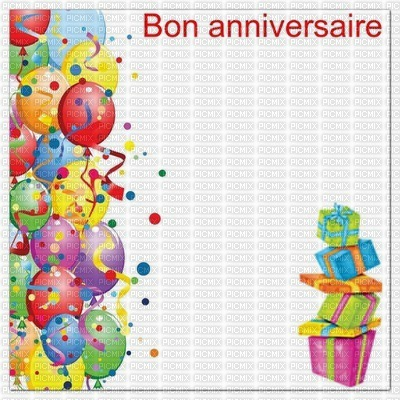 image encre bon anniversaire color effet ballons cadaux  edited by me