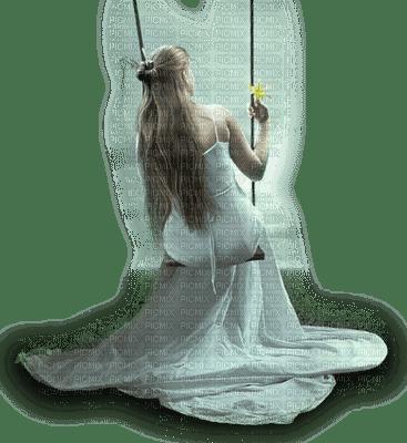 Femme sur balançoire