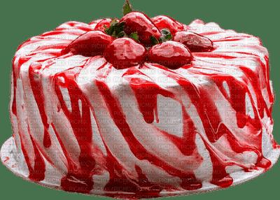 gateau Anniversaire rouge et blanc