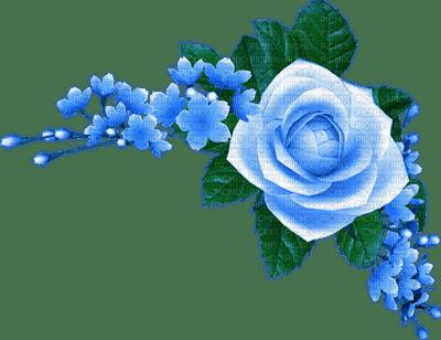 Kaz_Creations Deco Flowers Blue  Colours