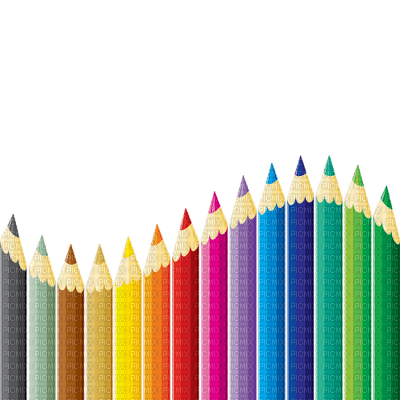 school colorful pencil border
