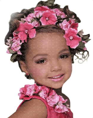 Kaz_Creations Baby Enfant Child Girl Flowers Pink