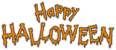 happy halloween text